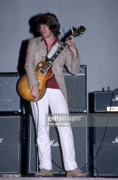 Mick Taylor, the English musician best known as a former member of John Mayall's Bluesbreakers and The Rolling Stones , plays with John Mayall during...