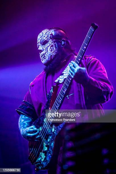 Mick Thomson of Slipknot performs on February 11 2020 in Milan Italy