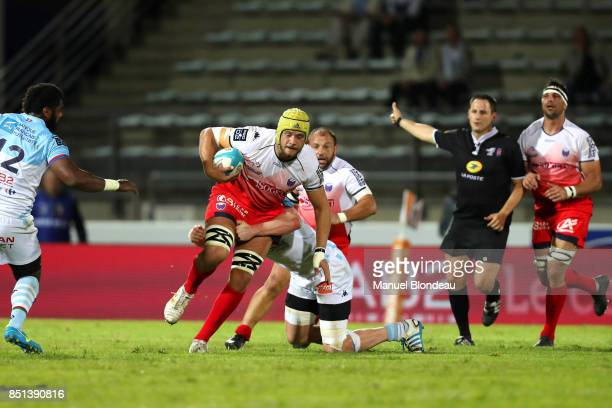 Mickael Capelli of Grenoble during the French Pro D2 match between Aviron Bayonnais and Grenoble on September 21 2017 in Bayonne France