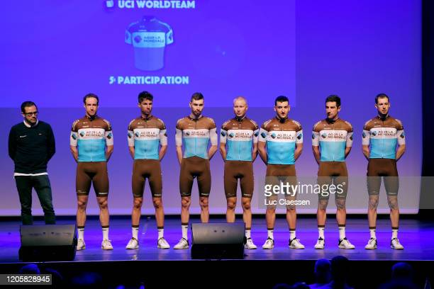 Mickael Cherel of France and Team Ag2R La Mondiale / Julien Duval of France and Team Ag2R La Mondiale / Alexandre Geniez of France and Team Ag2R La...