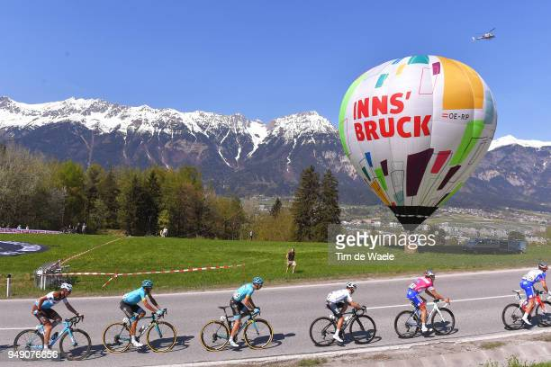 Mickael Cherel of France and Team AG2R La Mondiale / Miguel Angel Lopez of Colombia and Astana Pro Team /Jan Hirt of Czech Republic and Astana Pro...