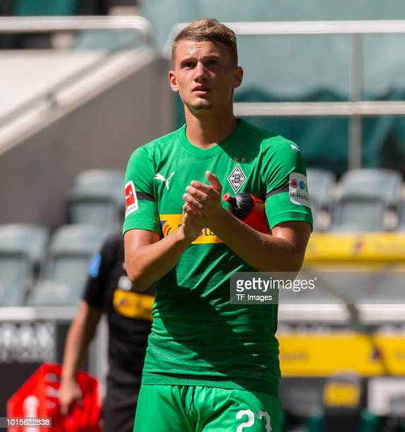 Mickael Cuisance of Borussia Moenchengladbach looks on after the friendly match between Borussia Moenchengladbach and FC WegbergBeeck at BorussiaPark...