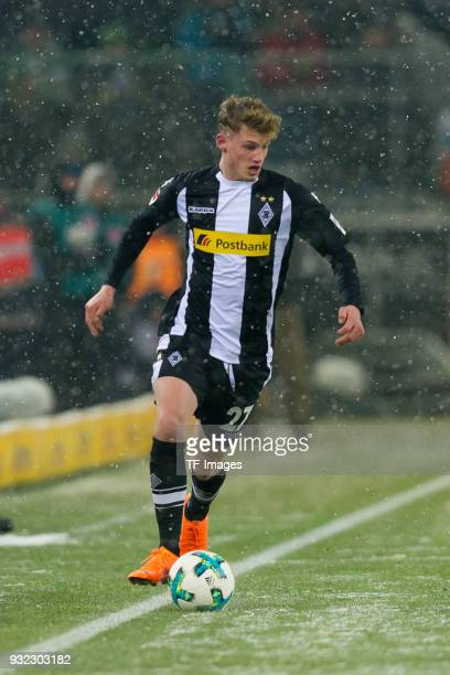 Mickael Cuisance of Moenchengladbach controls the ball during the Bundesliga match between Borussia Moenchengladbach and SV Werder Bremen at...