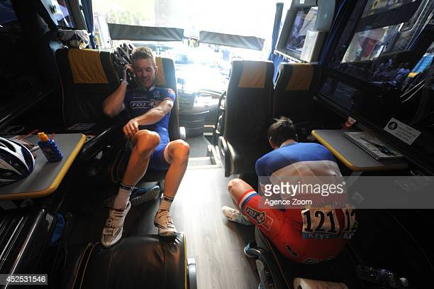 Mickael Delage of Team FDJFR during Stage 16 of the Tour de France on July 22 2014 in BagneresdeLuchon France