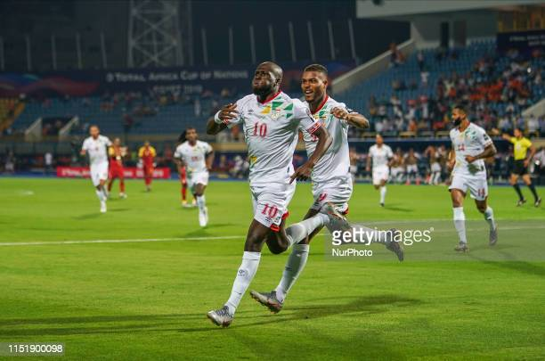 Mickael Franck Pote of Benin celebrating scoring to 1-0 during the 2019 African Cup of Nations match between Ghana and Benin at the Ismailia stadium...