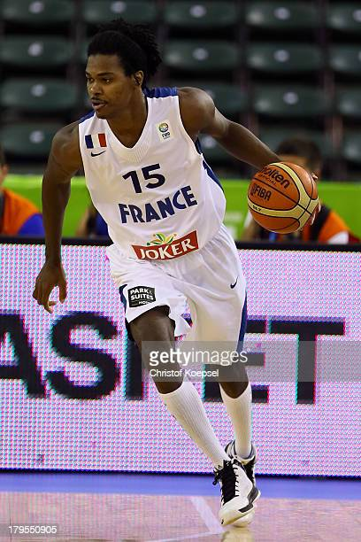 Mickael Gelabale of France leads the ball during the FIBA European Championships 2013 first round group A match between France and Germany at Tivoli...