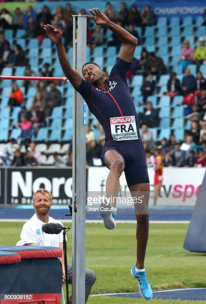 Mickael Hanany of France competes in High Jump during day 2 of the 2017 European Athletics Team Championships at Stadium Lille Metropole on June 24...