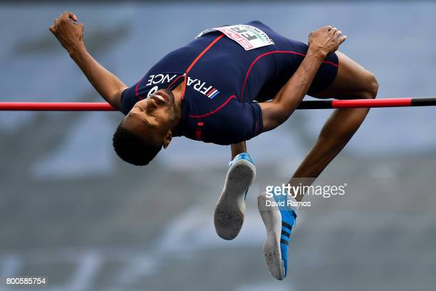 Mickael Hanany of France competes the Men's High Jump Final during day two of the European Athletics Team Championships at the Lille Metropole...