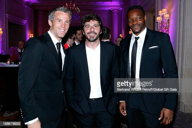 Mickael Landreau Patrick Fiori and Steve Mandand attend 'Global Gift Gala' at Hotel George V on May 13 2013 in Paris France