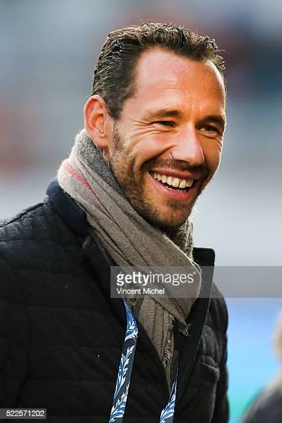 Mickael Llodra during the semi-final French Cup between Lorient and Paris Saint-Germain at Stade du Moustoir on April 19, 2016 in Lorient, France.