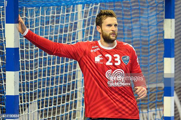 Mickael Robin of Creteil during the handball Lidl Starligue match between Creteil and Chambery on October 12 2016 in Creteil France