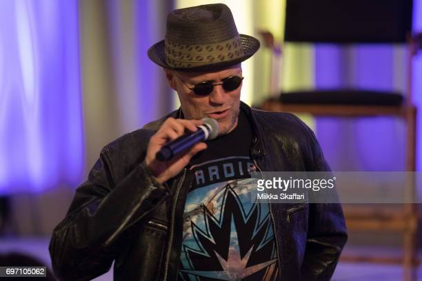 Mickael Rooker is talking with the audience at Mickael Rooker vs The Audience session at Sacramento Convention Center on June 17 2017 in Sacramento...