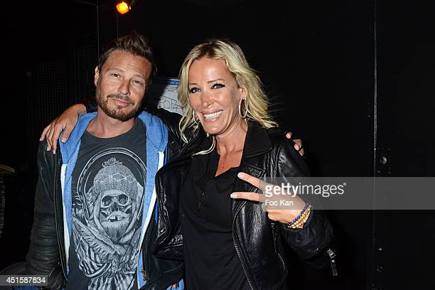 Mickael Winter and Ophelie Winter attend 'Un Look D'Enfer' Sebastien Patoche Show Case Party at the Theatre du Renard on July 1 2014 in Paris France