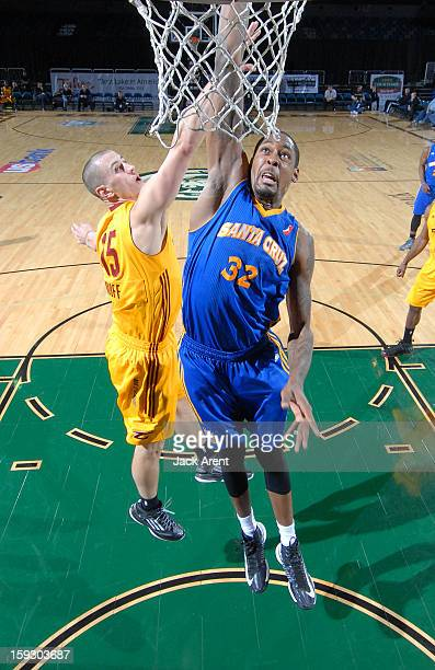Mickell Gladness of the Santa Cruz Warriors shoots the ball against the Canton Charge during the 2013 NBA D-League Showcase on January 10, 2013 at...