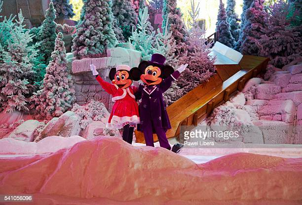 Mickey and Minnie Mouse Performing at Disneyland Paris