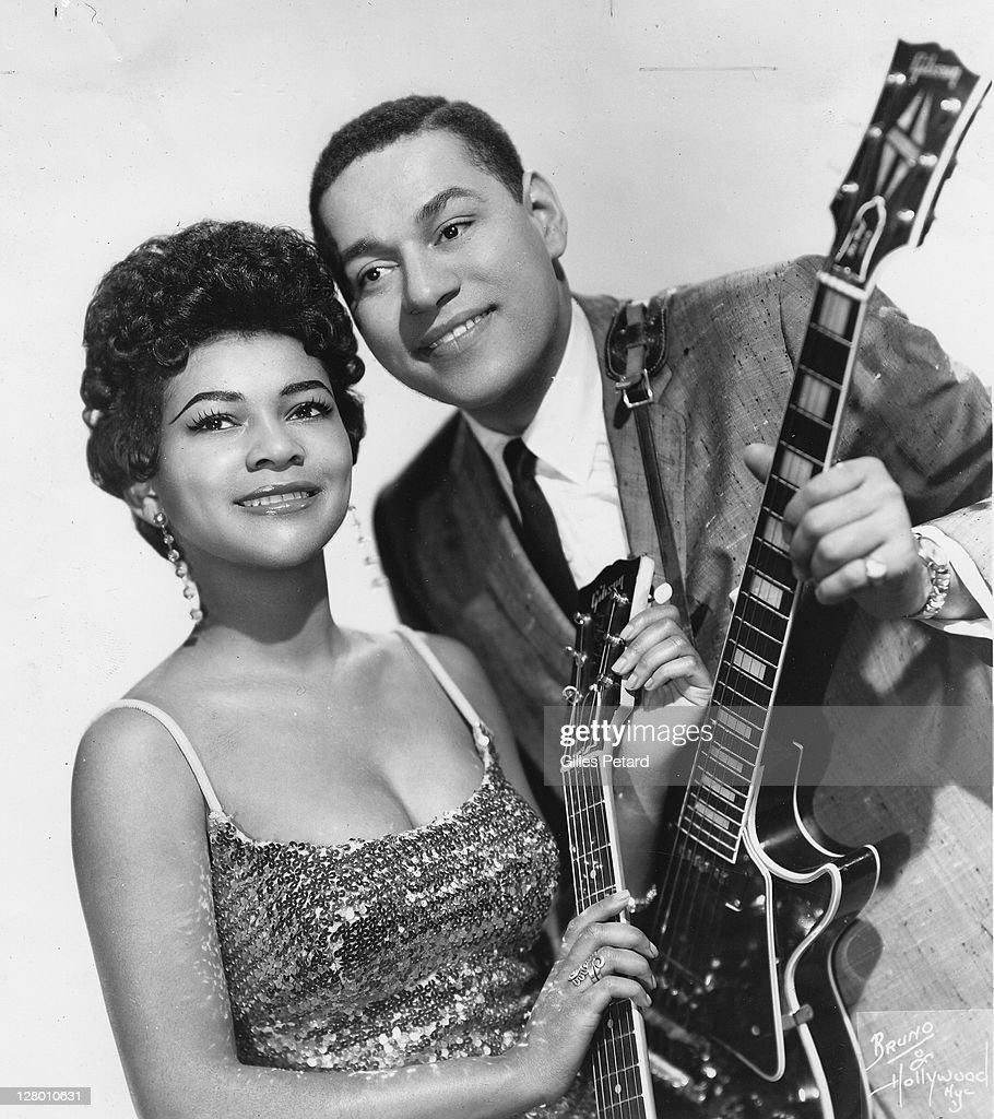 Mickey and Sylvia, studio portrait, L-R Mickey Baker and Sylvia Robinson, studio portrait, USA, 1956.