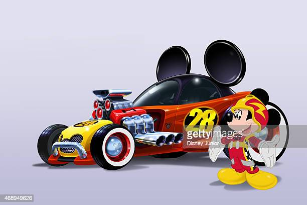 RACERS 'Mickey and the Roadster Racers' a madcap car racing adventure for preschoolers featuring Mickey Mouse and his pals Minnie Pluto Goofy Daisy...