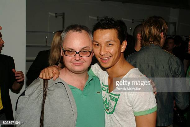 Mickey Boadman and Prabal Gurung attend AMANDA LEPORE DOLL cocktail party at Jeffrey on April 11 2006 in New York City
