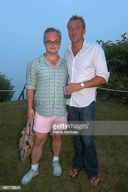 Mickey Boardman and Hunter Hill attend Junko Yoshioka Presents Her Evening Wear Collection at Peter and Nejma Beard Residence on July 16 2005 in...