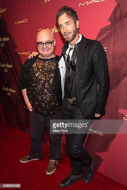 Mickey Boardman and Indochine owner Jean Marc Houmard attend Indochine's 30th Anniversary Party at Indochine on November 7, 2014 in New York City.