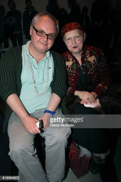 Mickey Boardman and Lynn Yaeger attend THREEASFOUR Fall 2010 Collection at MILK STUDIOS on February 16 2010 in New York City