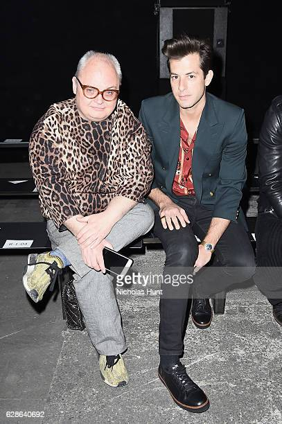 Mickey Boardman and Mark Ronson attend the Coach 75th Anniversary Women's PreFall and Men's Fall Show Front Row on December 8 2016 in New York City