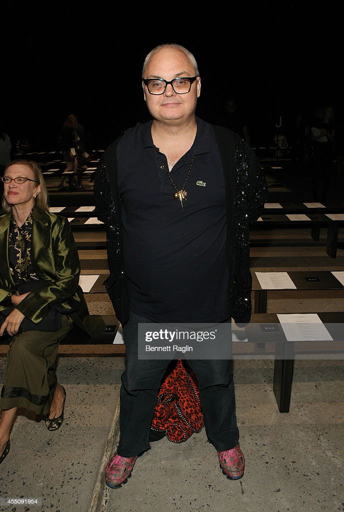 Mickey Boardman attends Narciso Rodriguez during Mercedes-Benz Fashion Week Spring 2015 at SIR Stage 37 on September 9, 2014 in New York City.