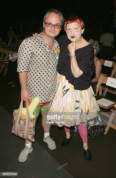 Mickey Boardman Editor of Paper Magazine and Lynn Yaeger of the Village Voice at the Gary Graham Spring 2006 fashion show during Olympus Fashion Week...