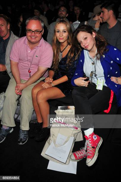 Mickey Boardman Harley Viera Newton and Cory Kennedy attend ERIN WASSON X RVCA Spring 2010 Collection at The Tent on September 11 2009 in New York...