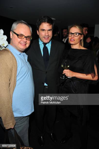 Mickey Boardman Jeff Slonim and Jennifer Sample attend The New DKNYMEN Fragrance launch hosted by KELLY BENSIMON and MARK VANDERLOO at Hotel on...
