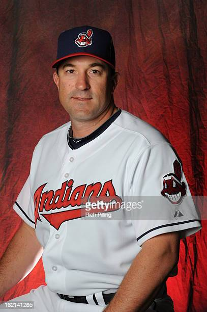 Mickey Callaway of the Cleveland Indians poses during MLB photo day at the Goodyear Ballpark on February 19 2013 in Goodyear Arizona