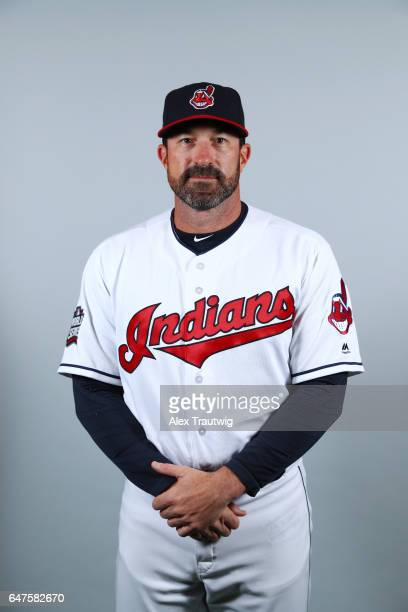 Mickey Callaway of the Cleveland Indians poses during Photo Day on Friday February 24 2017 at Goodyear Ballpark in Goodyear Arizona