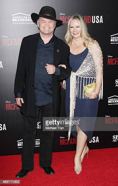 Mickey Dolenz and wife Donna Quinter arrive at the world premiere of McFarland USA held at the El Capitan Theatre on February 9 2015 in Hollywood...