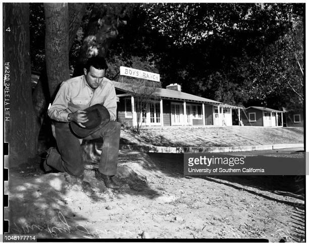 Mickey Finn boys ranch -- Newhall, California, 30 November 1951. Mickey Finn.;Caption slip reads: 'Photographer: Glickman. Date: . Reporter:...