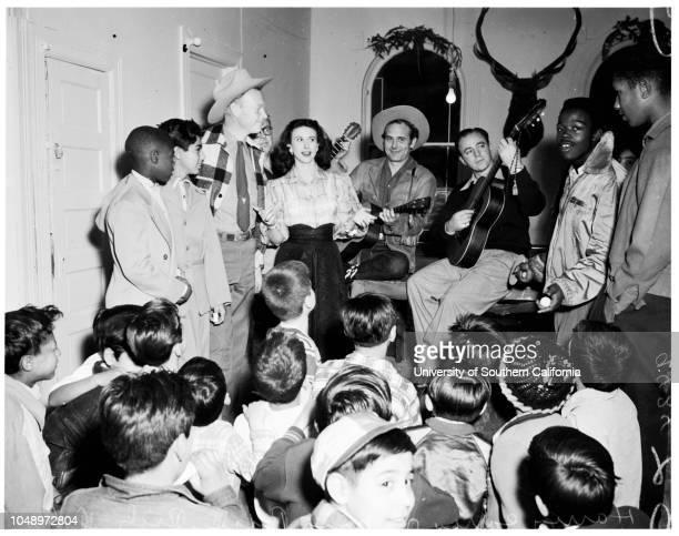 Mickey Finn Christmas Party, 19 December 1951. Harry Carey Junior;Nina Bara;Rich Dahr;Stan Jones;Frank Miller..