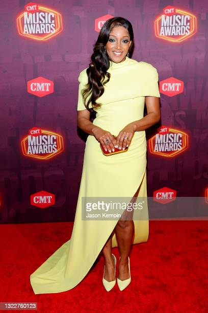 Mickey Guyton attends the 2021 CMT Music Awards at Bridgestone Arena on June 09, 2021 in Nashville, Tennessee.