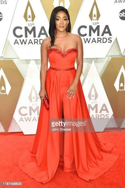 Mickey Guyton attends the 53rd annual CMA Awards at the Music City Center on November 13 2019 in Nashville Tennessee