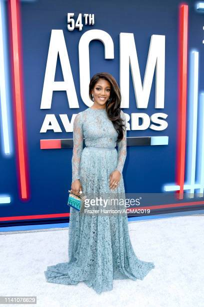 Mickey Guyton attends the 54th Academy Of Country Music Awards at MGM Grand Hotel Casino on April 07 2019 in Las Vegas Nevada