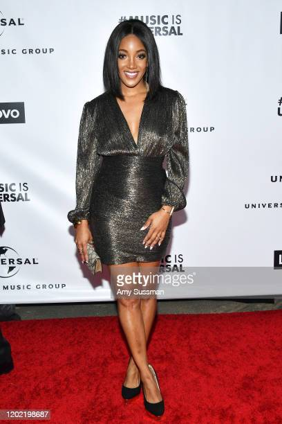Mickey Guyton attends the Universal Music Group's 2020 Grammy after party presented by Lenovo at Rolling Greens Nursery on January 26 2020 in Los...