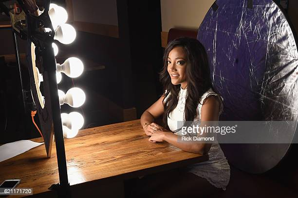Mickey Guyton during CMT's Next Women of Country on November 1 2016 at The City Winery Nashville Tennessee
