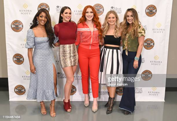 Mickey Guyton Hannah Ellis Caylee Hammack Rachel Wammack and Lainey Wilson visit the Country Music Hall of Fame and Museum on June 07 2019 in...