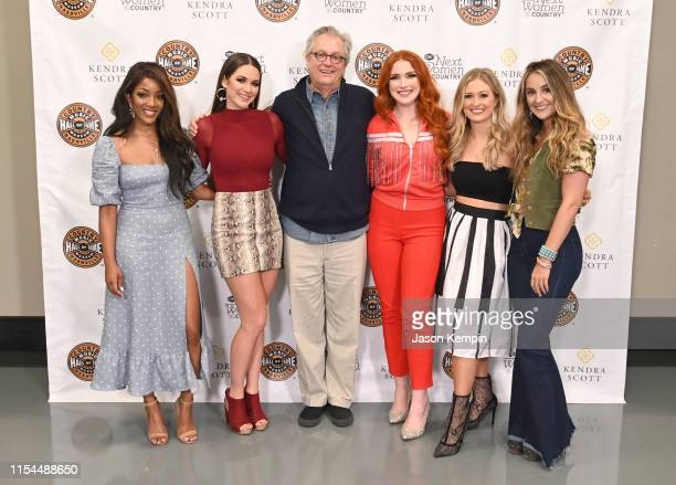 Mickey Guyton Hannah Ellis Kyle Young Caylee Hammack Rachel Wammack and Lainey Wilson visit the Country Music Hall of Fame and Museum on June 07 2019...