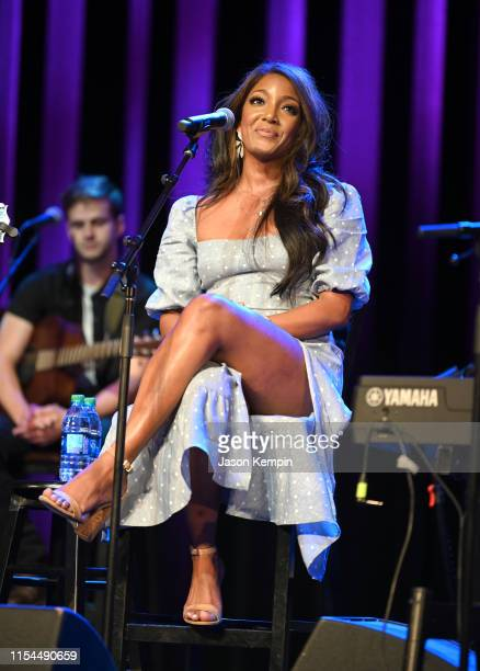 Mickey Guyton performs at the Country Music Hall of Fame and Museum on June 07 2019 in Nashville Tennessee