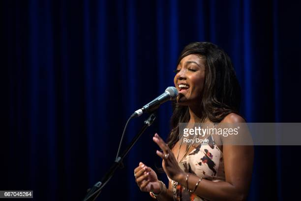 Mickey Guyton performs at the GRAMMY Museum Mississippi on April 10 2017 in Cleveland Mississippi