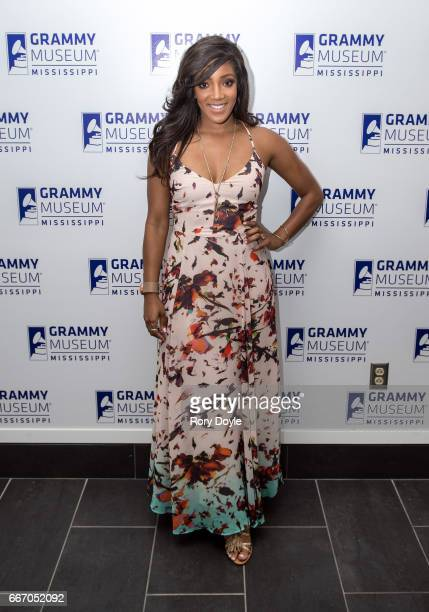 Mickey Guyton poses for a portrait at GRAMMY Museum Mississippi on April 10 2017 in Cleveland Mississippi