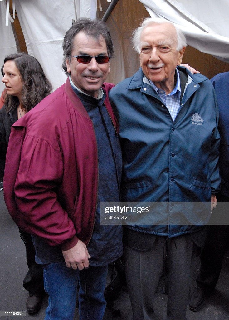Mickey Hart and Walter Cronkite during Green Apple Music Festival - Mickey Hart - April 21, 2006 at Stage at 44th & Vanderbilt in New York City, New York, United States.
