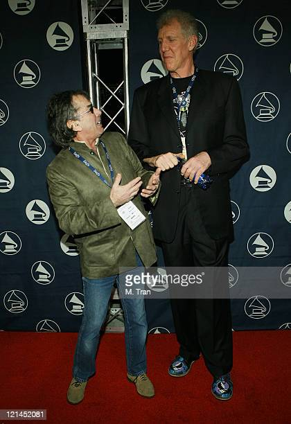 Mickey Hart of the Grateful Dead and Bill Walton during The Recording Academy Hosts GRAMMY Special Merit Awards Arrivals at Wilshire Ebell Theatre in...
