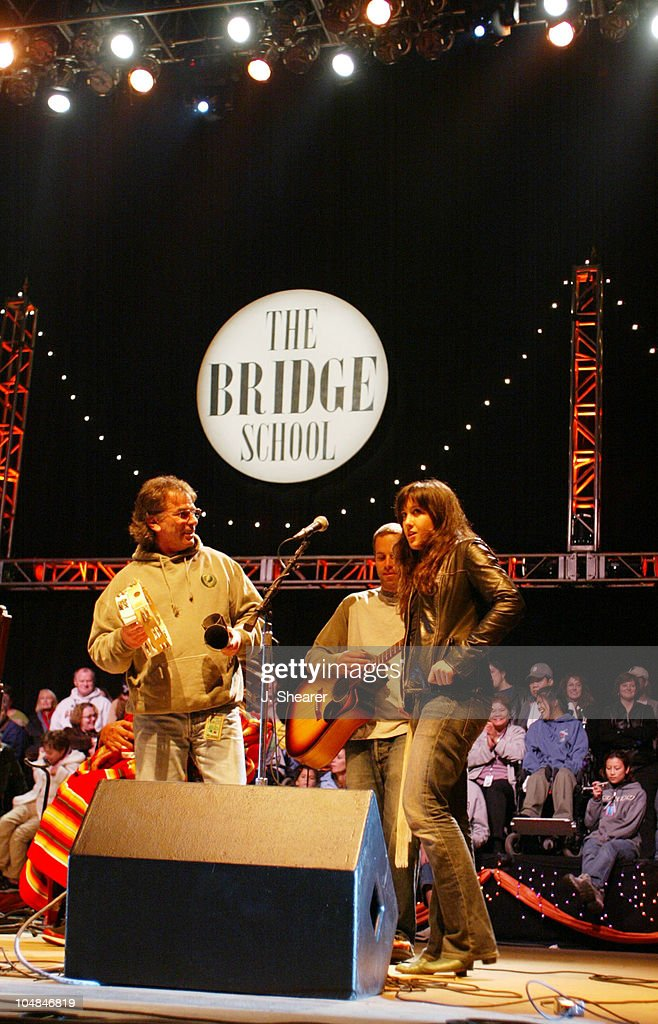 Mickey Hart of The Other Ones, Jack Johnson and Vanessa Carlton perform together during the finale at the 16th Annual Bridge School Benefit Concert.
