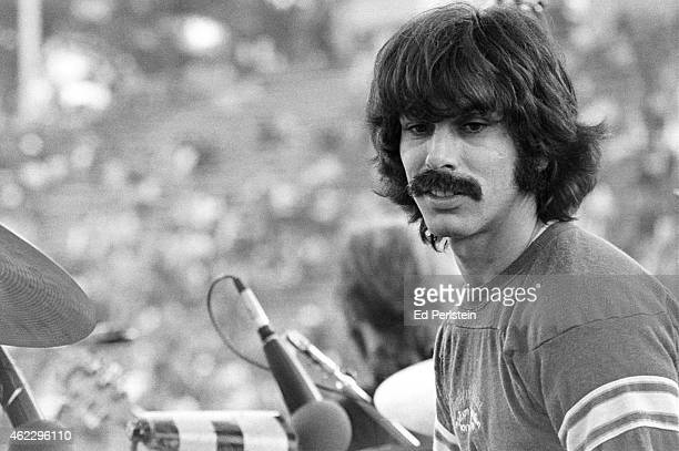 Mickey Hart performs with The Grateful Dead at Spartan Stadium on April 22, 1979 in San Jose, California.