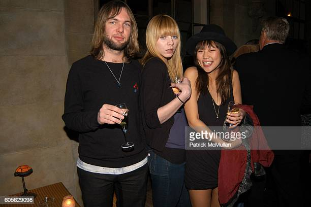 Mickey Madden Alexi Wasser and Nellie Kim attend ETRO and PERRIER JOUET Celebrate Patrick McMullan's Book KISS KISS at Chateau Marmont on February 28...